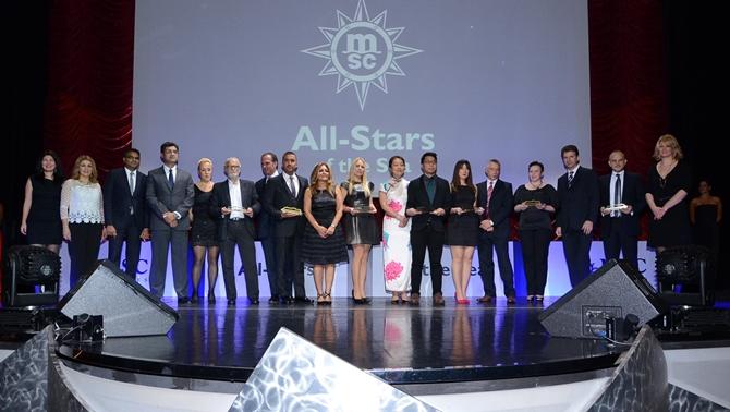 MSC Cruises denizin yıldızlarını ödüllendirdi