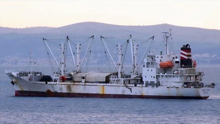 Orkinos yüklü Lady Tuna gemisi karaya oturdu