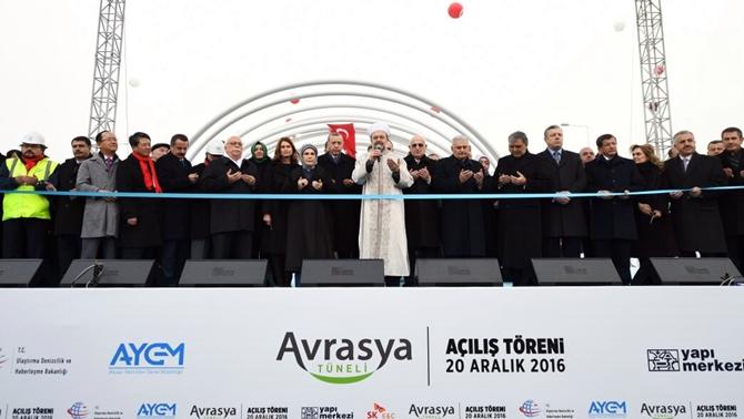 Tarihi açılış töreni ile Avrasya Tüneli hizmete girdi