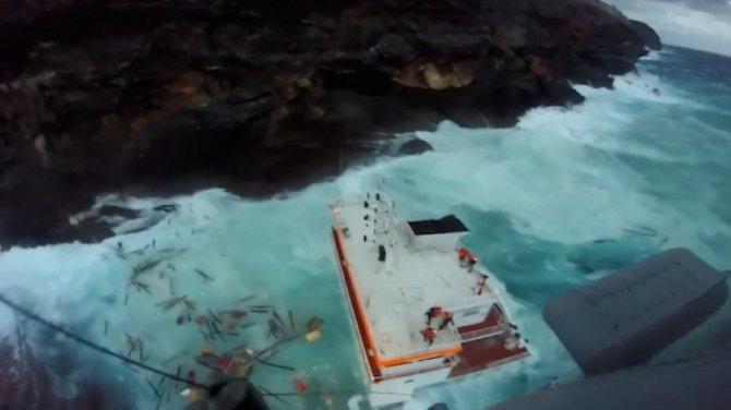M/V Cabrera isimli genel kargo gemisi Yunanistan'da battı