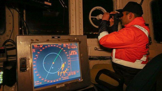 TCSG 80 gemisinin personeli yeni yıla denizde girdi