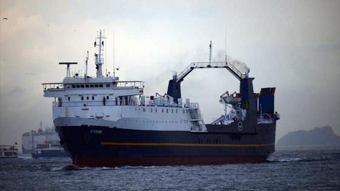 Ro-Ro gemisi M/V Aydemir Karadeniz'de mahsur kaldı