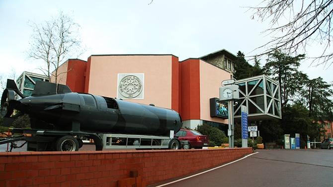 Yıldız Teknik Üniversitesi'nde bir denizaltı