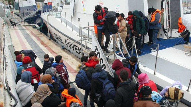 Sahil güvenlik, bir hafta da 613 göçmeni yakaladı!