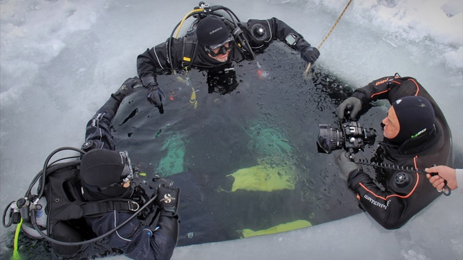 Tödürge Gölü'nde tüplü dalış eğitimi yapıldı