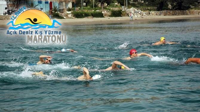 """""""Kış Yüzme Maratonu"""" Datça'da gerçekleştirilecek"""