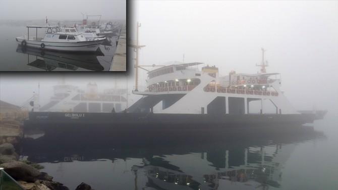 Çanakkale'de deniz trafiği sis nedeniyle durdu!