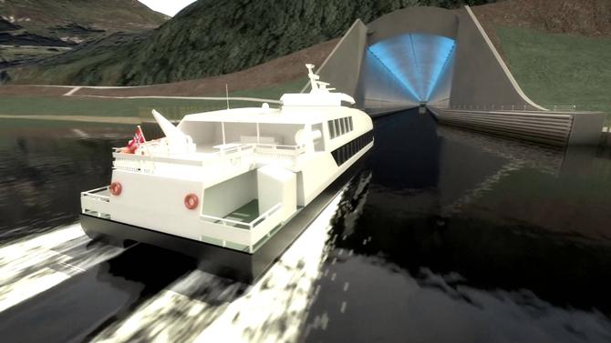 Dünyada ilk gemi tüneli Norveç'te açılacak