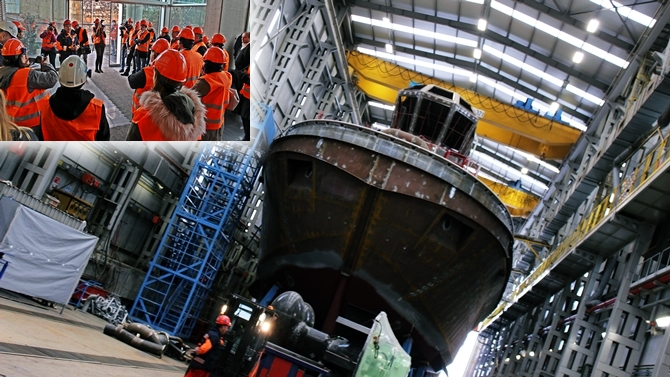 Sanmar Shipyards'ın kapıları basın mensupları için açıldı