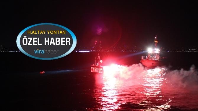 DAKSAR ekibi Marmara Denizi'nde gece eğitimi yaptı