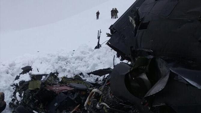 Tunceli'deki helikopter kazasında 12 kişi şehit oldu!