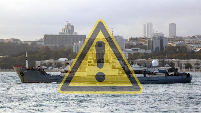 Batık Rus istihbarat gemisi için araştırma-kurtarma birimi gönderildi