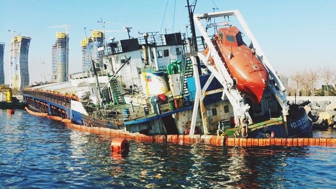 M/V Volgo Don 203 kuruyük gemisinin enkazı çıkarıldı