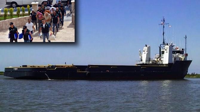 Commander Tide gemisinin 9 mürettebatı adliyeye sevk edildi