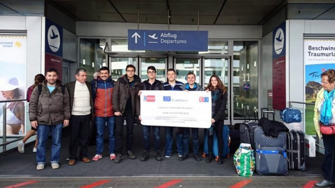 Ziya Kalkavan MTAL öğrencileri Almanya'da eğitim aldı