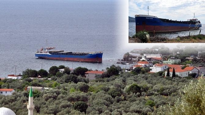 M/V İrem Kaan gemisi Çanakkale'de karaya oturdu