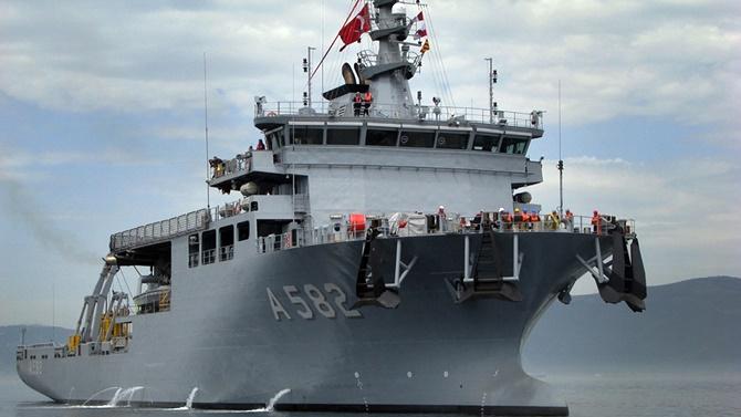 TCG Alemdar gemisi ilk tatbikatını yaptı