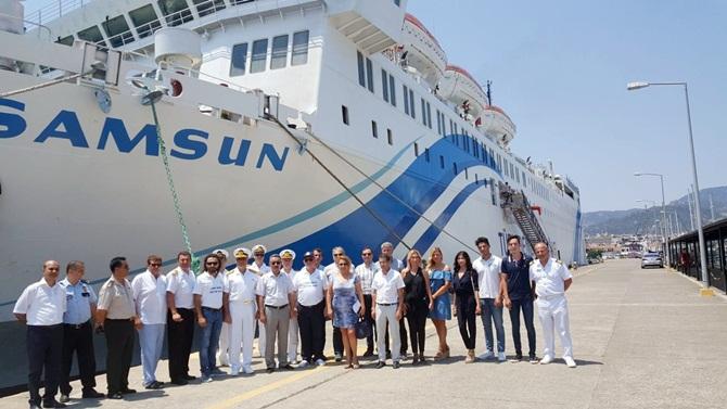 T/S Samsun gemisi DTO Marmaris Şubesi'nce ağırlandı
