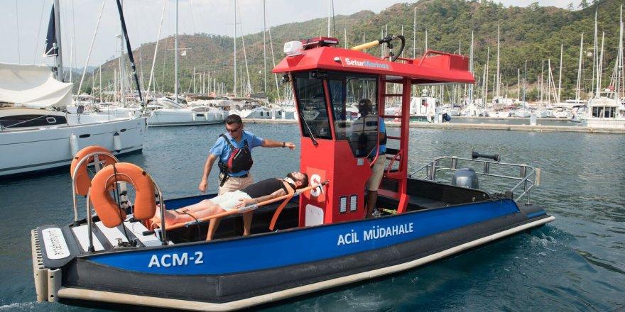 Setur Marinaları, Acil Müdahale botlarıyla hizmet vermeye başladı