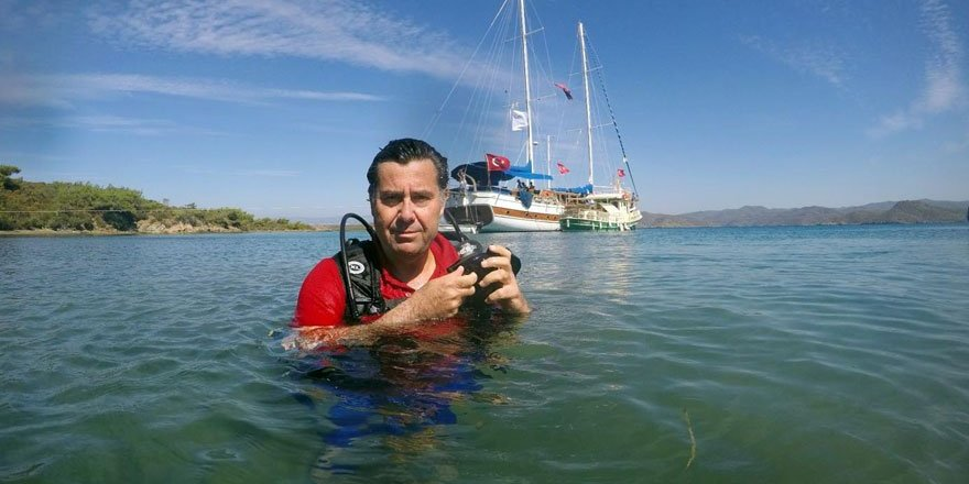 Başkan Kocadon deniz dibinden çöp topladı