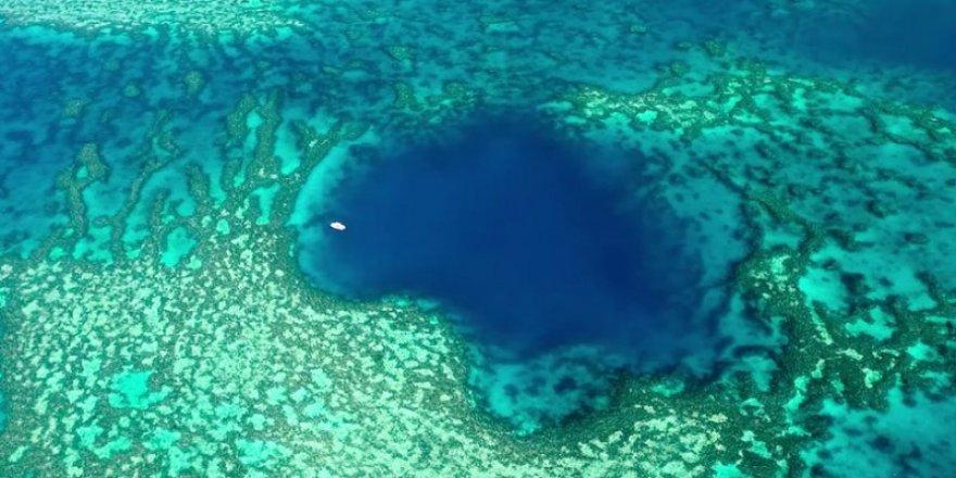 Büyük Set Resifi'nde mavi delik keşfedildi!