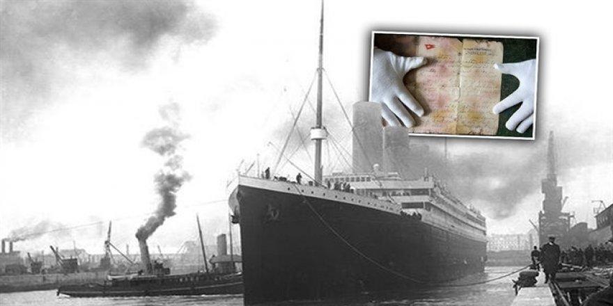 Titanic'te yazılan mektup 166 bin dolara satıldı