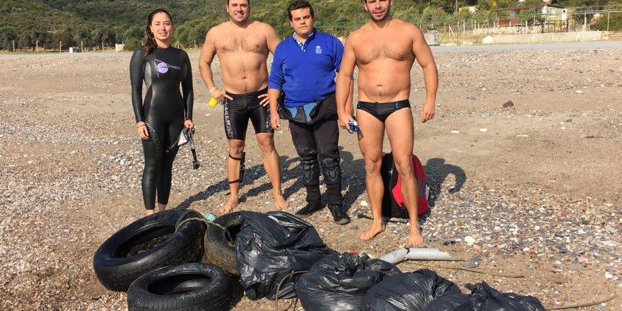 Milli yüzücüden deniz temizliği seferberliği