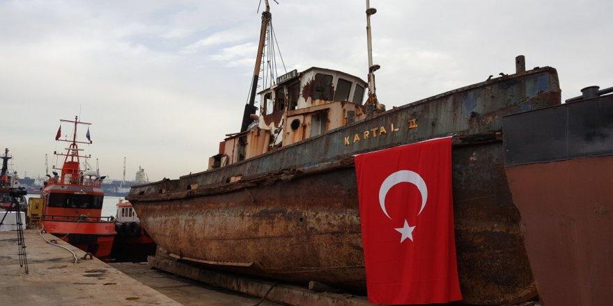 Tarihi gemiyi Karşıyaka Belediyesi istiyor