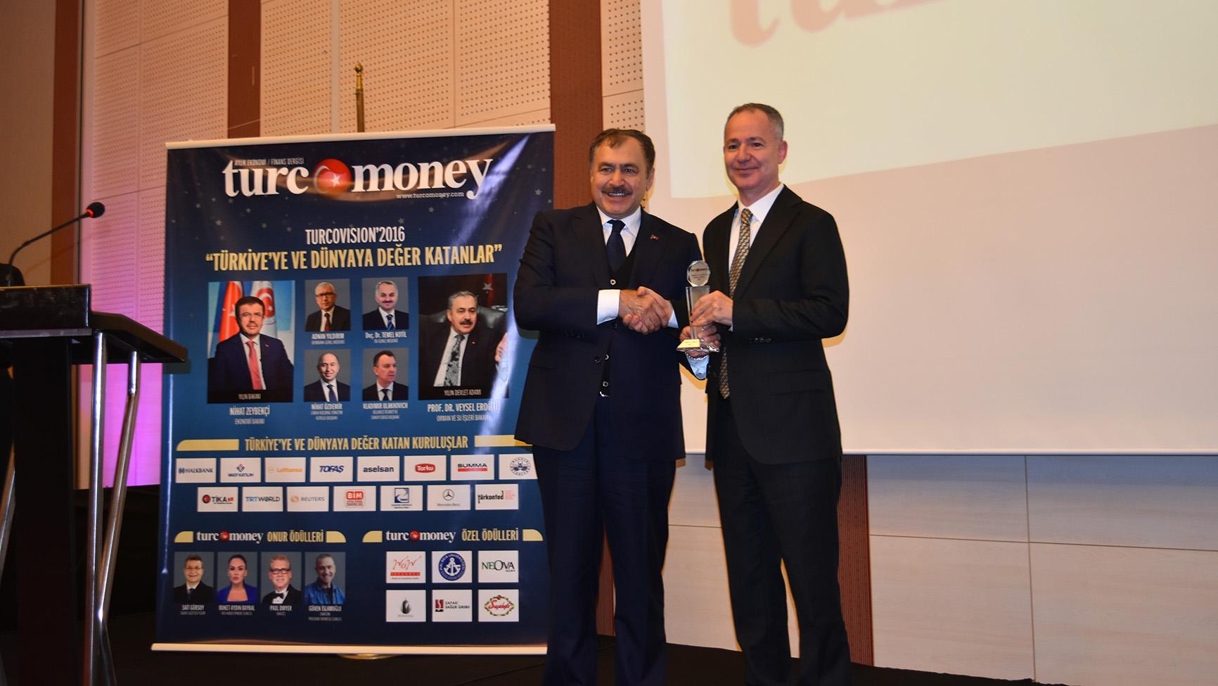 Pîrî Reis Üniversitesi'ne Turco Vision özel ödülü verildi