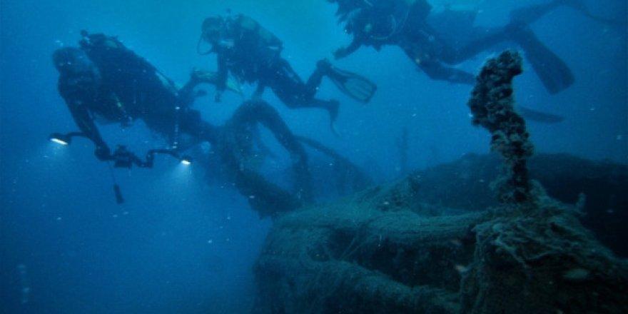 İskenderun Körfezi'nde 2 savaş gemisi batığı bulundu