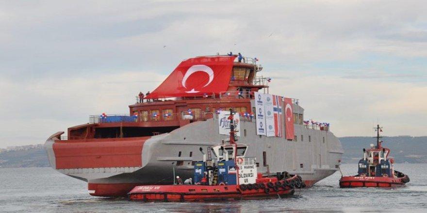 Cemre Tersanesi, M/F HUSAVIK Norveç'e teslim etti