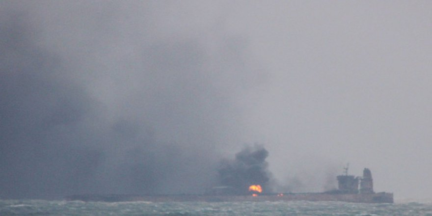 Korkulan oldu! Yanan tankerde patlama
