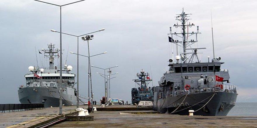 NATO'ya savaş gemileri Sinop'tan demir aldı