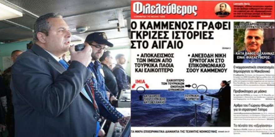 Yunan basını, Savunma Bakanı'nı paçavraya çevirdi