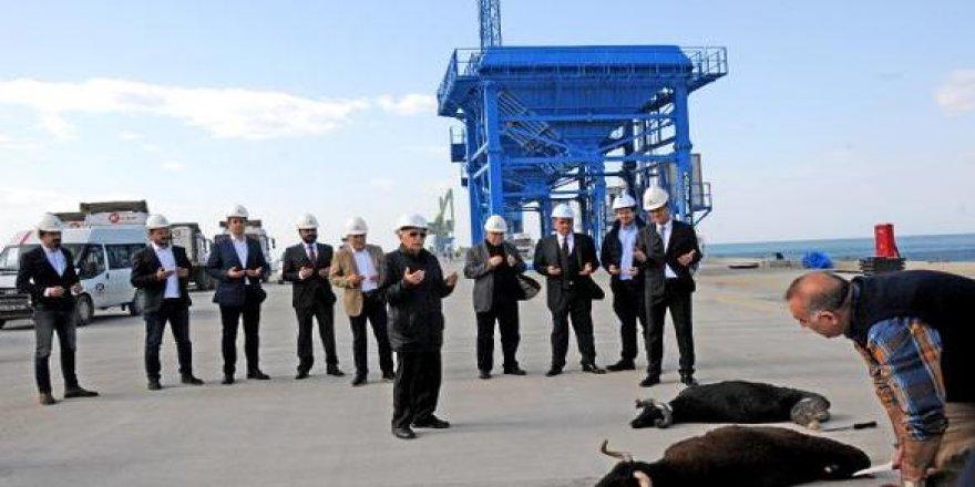 Hatay'da Atakaş Limanı'na ilk gemi yanaştı