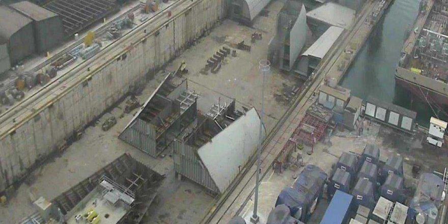 TCG Anadolu'nun montajı devam ediyor