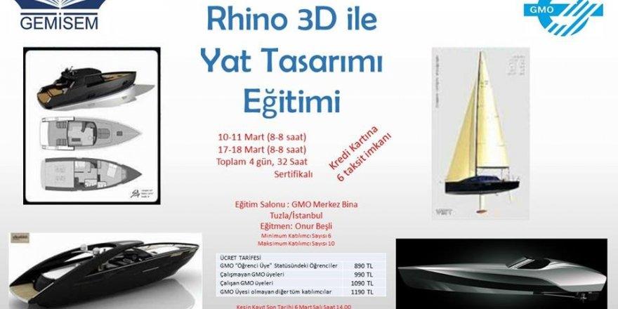"""GEMİSEM, """"Rhino 3D ile Yat Tasarımı Eğitimi''"""