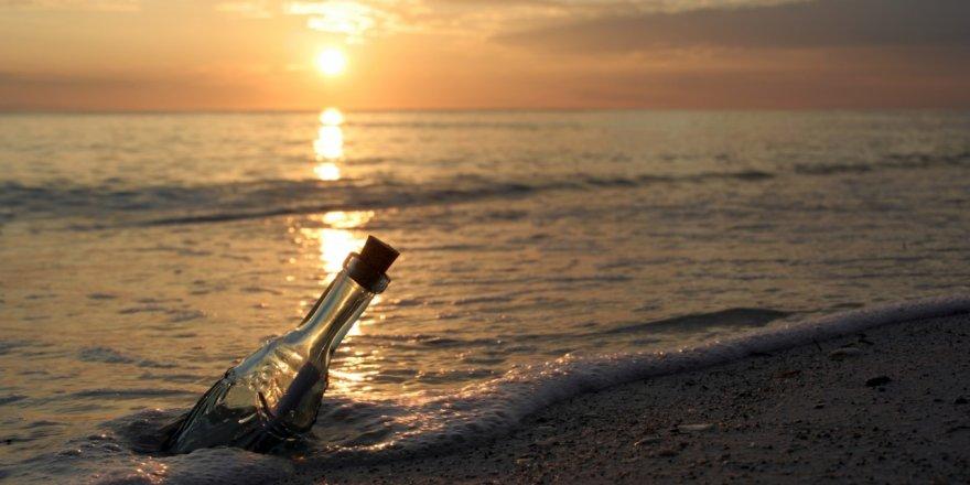 Dünyanın en eski şişe mesajı bulundu!