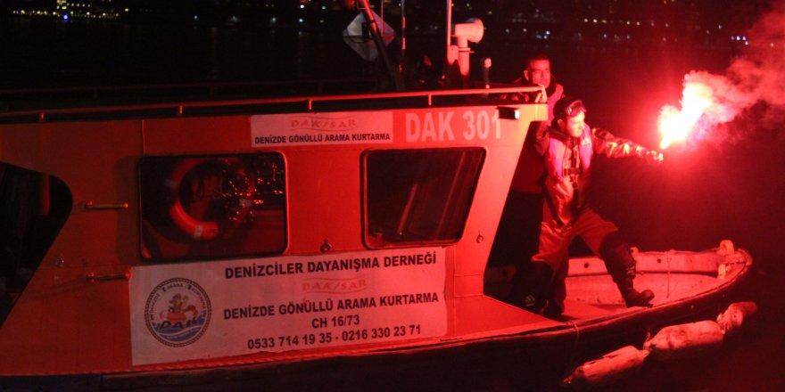 Kadıköy'de denizde arama kurtarma tatbikatı