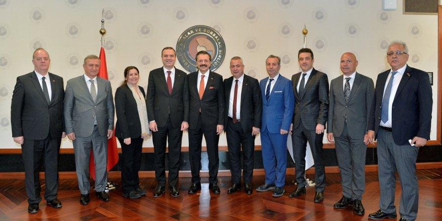 İMEAK Deniz Ticaret Odası'ndan TOBB Başkanı Hisarcıklıoğlu'na ziyaret