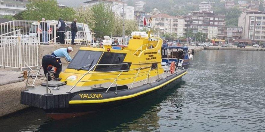 Yalova'da denizde mahsur kalan balıkçı kurtarıldı