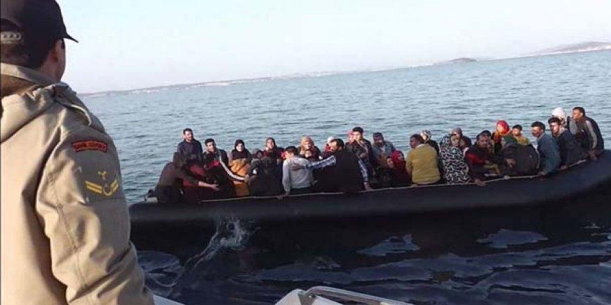 Ölüm yolculuğuna çıkan 57 kişi kurtarıldı