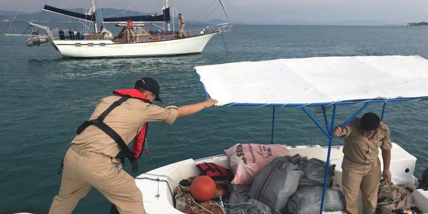 Didim'de tekneye uyuşturucu operasyonu: 9 gözaltı
