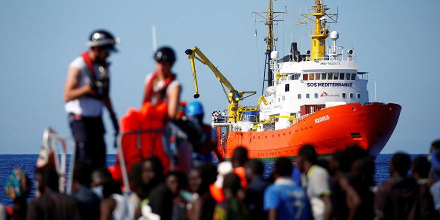 629 göçmen için İtalyan yardım gemileri harekete geçti