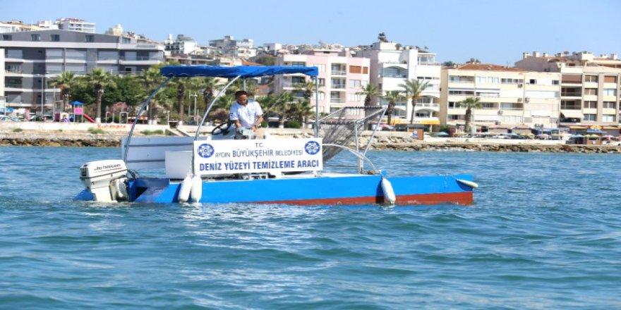 Aydın Belediyesi deniz temizleme aracı yaptı