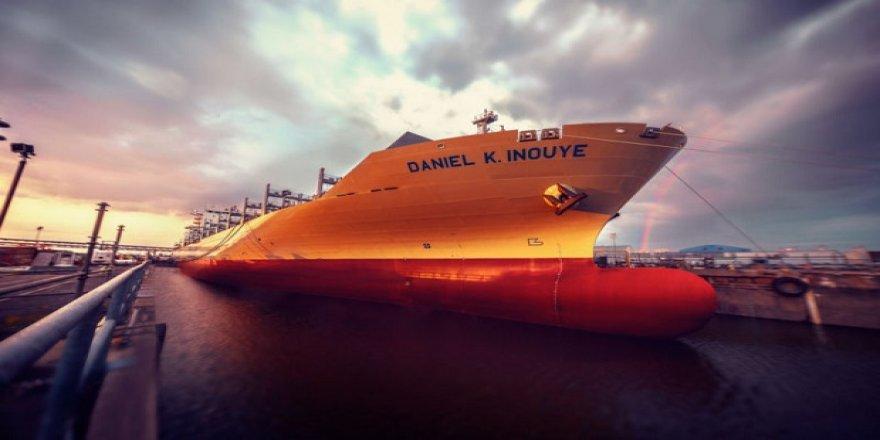 ABD'nin en büyük gemisi suya indirildi