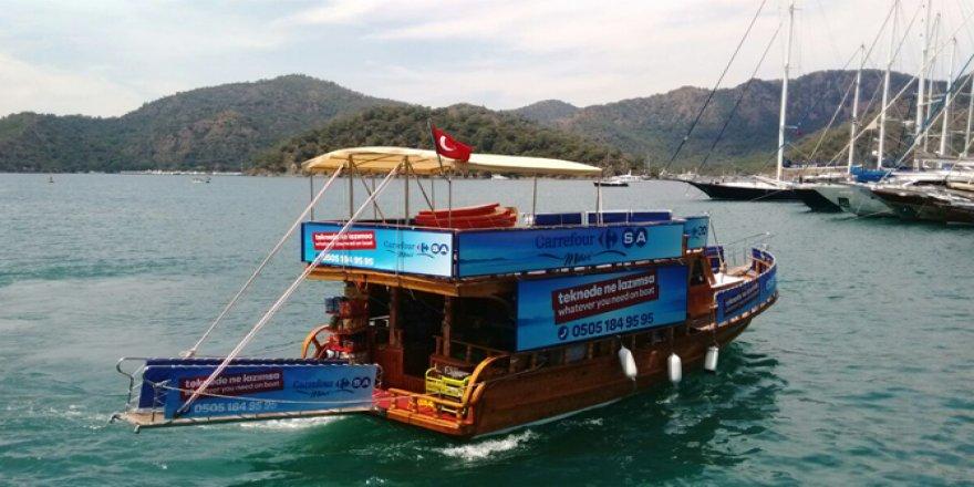 Deniz market, teknelerin hizmetinde