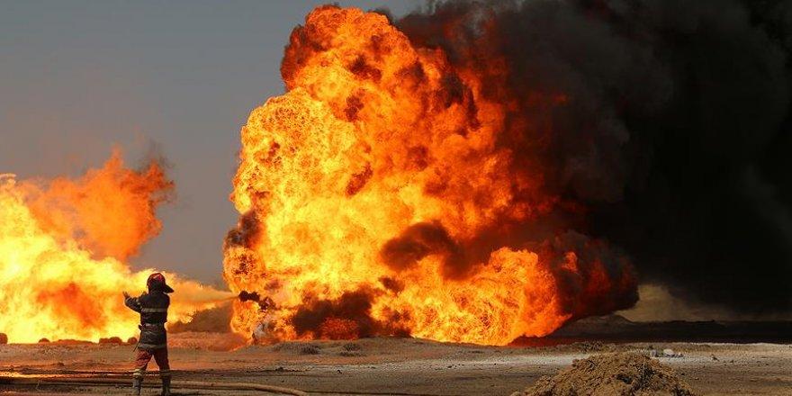 Petrol deposu patladı!