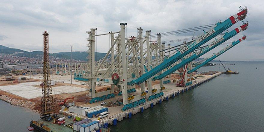 Safiport Derince'ye yeni vinçlerle daha da hızlanacak