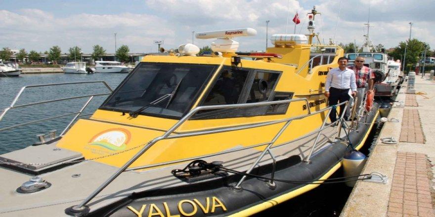 Yalova Su Ürünleri kontrol şubesine yeni tekne
